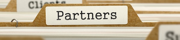 Partners Concept. Word on Folder Register of Card Index. Selective Focus.