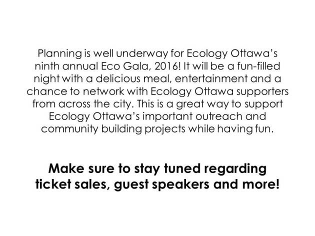 Planning is well underway for Ecology Ottawa's ninth.jpg