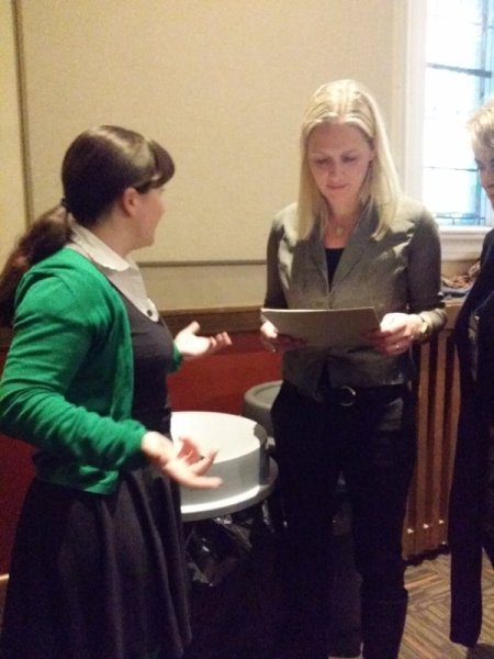 Handing my MP a letter asking for further public consultation on action on climate change!