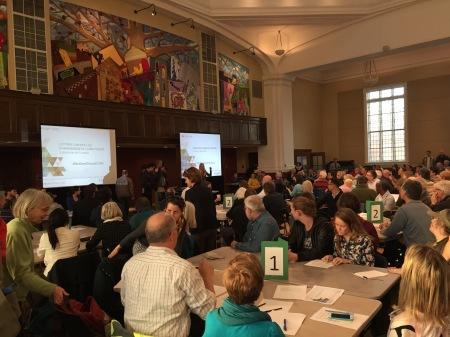 Breakout groups in the climate consultation, April 28, 2016 in Ottawa Centre