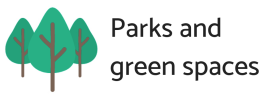 Button-Parks and green spaces