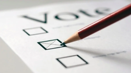 Pencil filling in a voting ballot